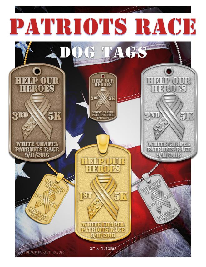 2016 Patriots Race Winners Medals