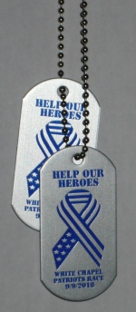 2018 Patriots Race Participant Dog Tags