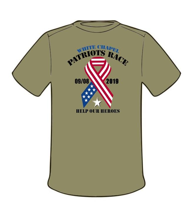 2019 Patriots Race_T-Shirt_ARMY_White Star